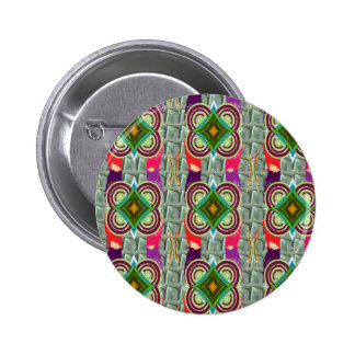 Unique geometrical n graphical pattern art gifts 6 cm round badge