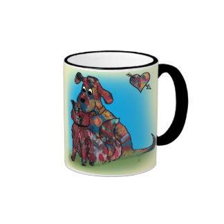 Unique Gift - Dog and Cat Lovers -Mug Ringer Mug