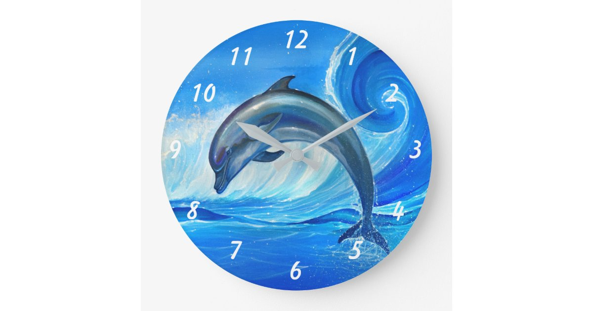 Unique Gifts for Dolphin Lovers Large Clock  66b454895787