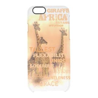 Unique Giraffes Clear iPhone 6/6S Case