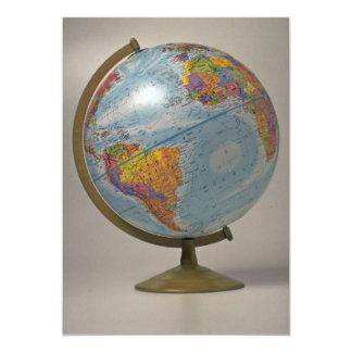 Unique Globe 13 Cm X 18 Cm Invitation Card