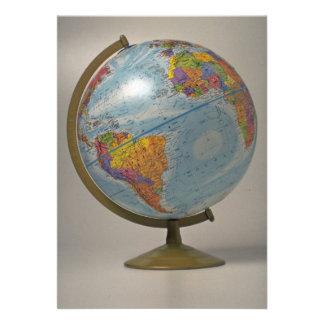 Unique Globe Personalized Announcements