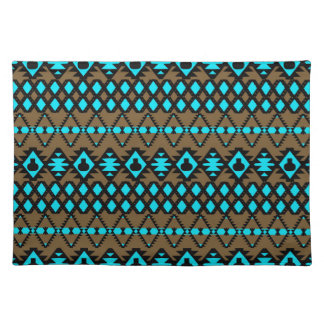 Unique Gold Black and Grey Geometric Aztec Pattern Placemat