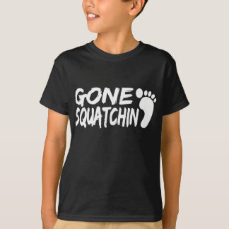 Unique GONE SQUATCHIN logo with FOOTPRINT T-Shirt