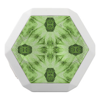 unique green abstract pattern white boombot rex bluetooth speaker
