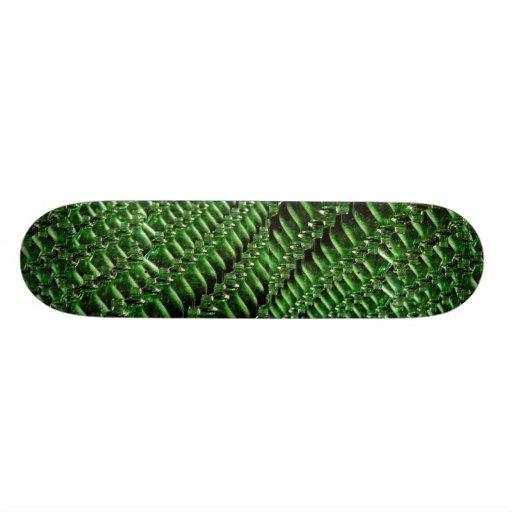 Unique Green bottles Skate Deck