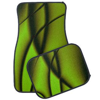 Unique Green Fractal Design Car Mat