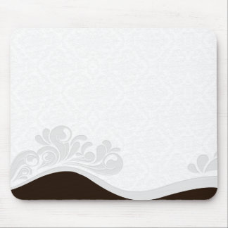 Unique Grey floral and damask birthday gift Mouse Pads