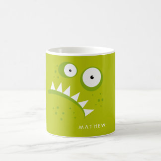Unique Grumpy Angry Funny Scary Green Monster Coffee Mug