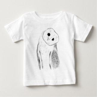 Unique Hand Drawn Barn Owl Baby T-Shirt