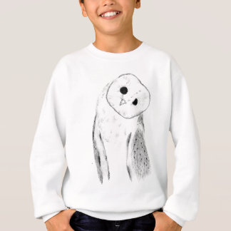 Unique Hand Drawn Barn Owl Sweatshirt