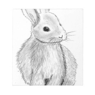 Unique Hand Drawn Bunny Notepad