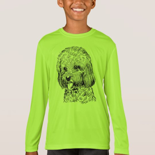 Unique Hand Drawn Dog Boy's T-shirt for Kids