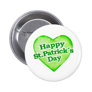 Unique Happy St. Patrick´s Day Design 6 Cm Round Badge