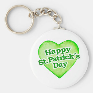 Unique Happy St. Patrick´s Day Design Basic Round Button Key Ring