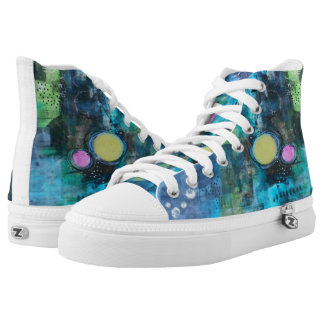 Unique High Top Tennis Shoes Womens Art Shoes Printed Shoes