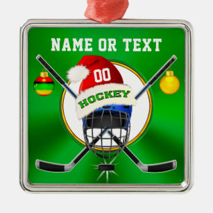 unique hockey christmas ornaments personalised christmas ornament