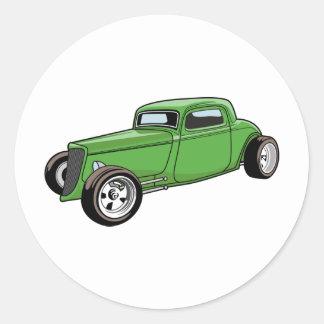 Unique Hot Rod Coupe Round Sticker