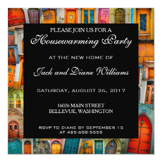 Unique Housewarming Party Invitation Doors