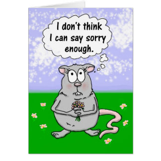 Unique I'm Sorry Apology Mouse Flowers Card