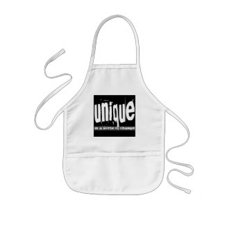Unique in a World of Change Kids Apron