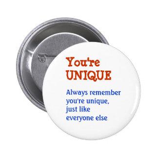 UNIQUE Inspiration Motivation Wisdom Words 6 Cm Round Badge