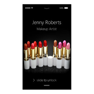 Unique iPhone iOS Style - Lipstick Makeup Artist Pack Of Standard Business Cards