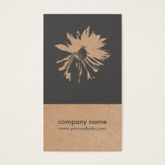 Unique Kraft Paper (printed) Flower Pattern Floral Business Card