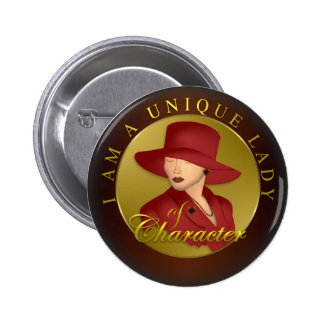 Unique Lady Of Character 6 Cm Round Badge