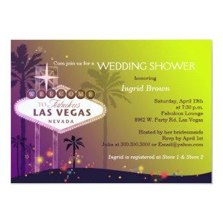 Unique Las Vegas Strip Wedding Shower 13 Cm X 18 Cm Invitation Card