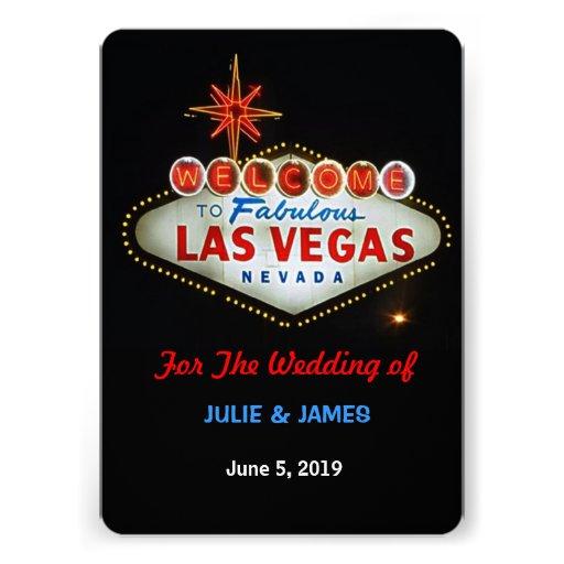 Unique Las Vegas Wedding Formal Invitation Custom Announcement