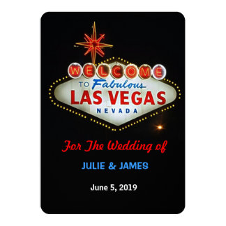 Unique Las Vegas Wedding Formal Invitation