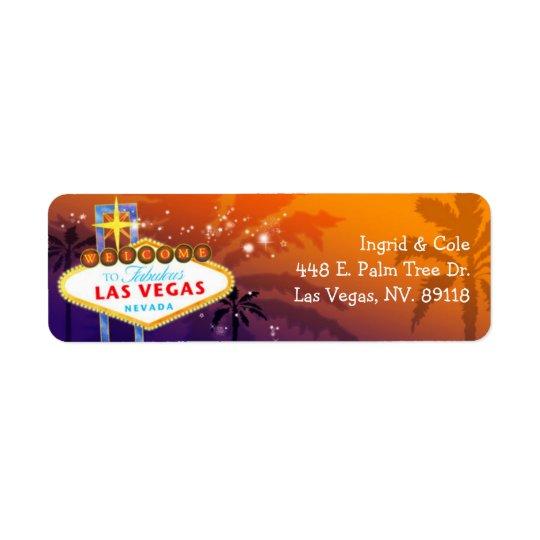 Unique Las Vegas Wedding Return Address Label