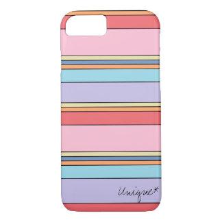 Unique linear motif cover with pastel colors