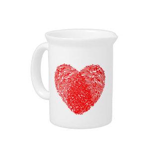 Unique Love Heart Romantic Personal Touch Pitcher
