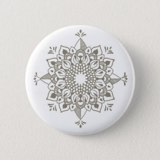 Unique mandala 6 cm round badge