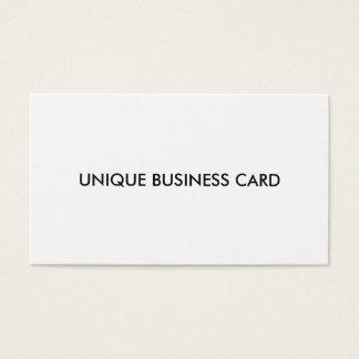 Unique memorable business card