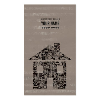 Unique Modern Professional House Home Template Business Card Template