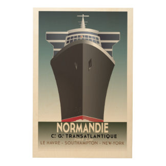Unique Modern/Retro Cruise Poster Wood Canvas