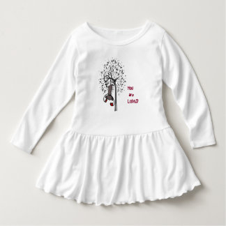 Unique Monkey Land Toddler Ruffle Dress