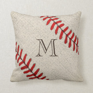 Unique Monogrammed Baseball Gifts for Dad Cushion