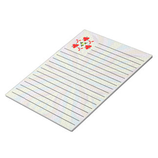 Unique mosaic colorful pattern notepad