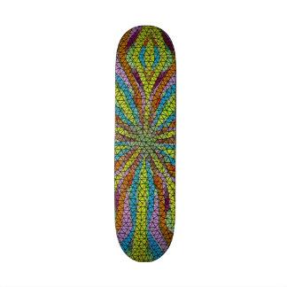 Unique mosaic colorful pattern skateboards