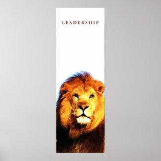 Unique Motivational Leadership Lion Poster