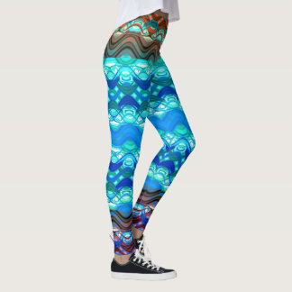 Unique  Multi Color Weave Design Leggings