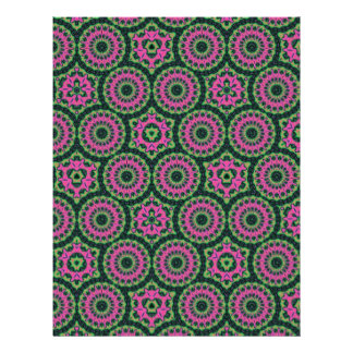 Unique multicolored abstract pattern personalized flyer