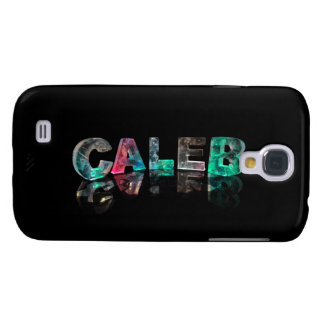 Unique Names - Caleb in 3D Lights Galaxy S4 Case