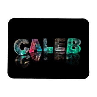 Unique Names - Caleb in 3D Lights Magnet
