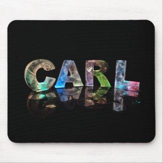Unique Names - Carl in 3D Lights Mousepads