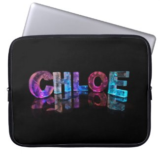 Unique Names - Chloe in 3D Lights Computer Sleeve